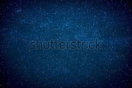 Blu buio cielo notturno molti stelle lattiginoso Foto d'archivio © vapi