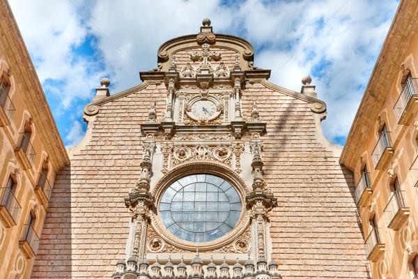 Külső kolostor Barcelona égbolt város fal Stock fotó © vapi