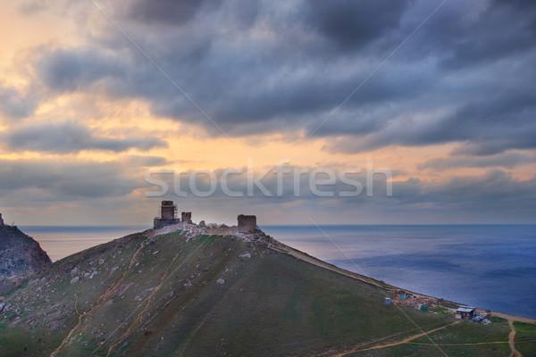 Ancient greek castle on the coast Stock photo © vapi