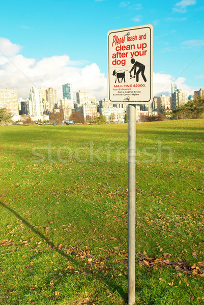 Prohibitive sign in the green park. Vancouver Stock photo © vapi