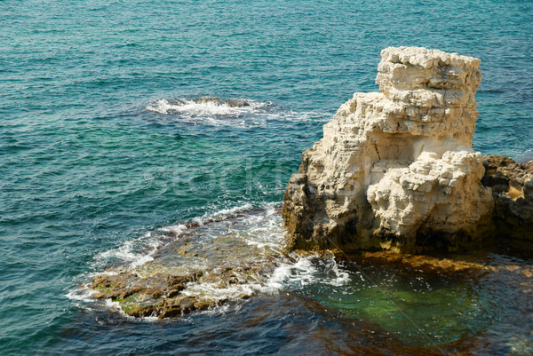 A big white rock and the ocean. Stock photo © vapi
