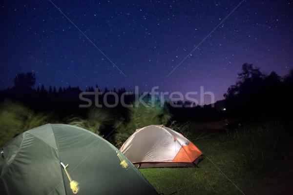 Góry nieba wiele gwiazdki lasu tle Zdjęcia stock © vapi
