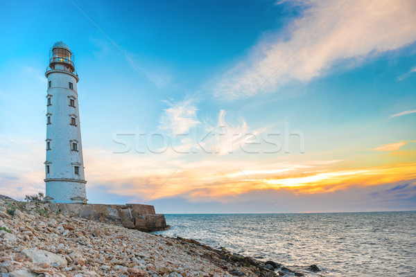 Lighthouse at sea coast Stock photo © vapi