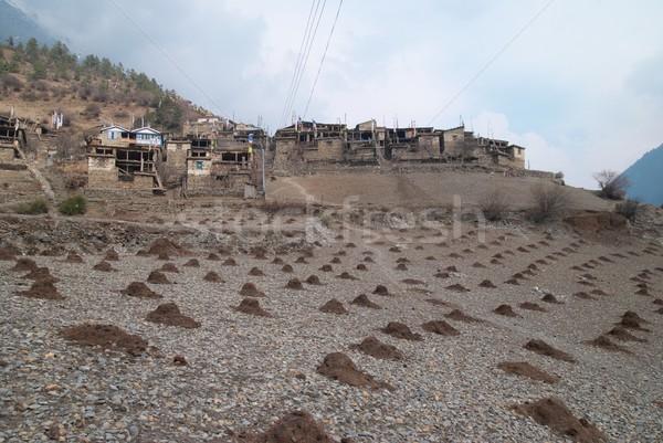 Tibetan village in Himalayan mountain. Stock photo © vapi