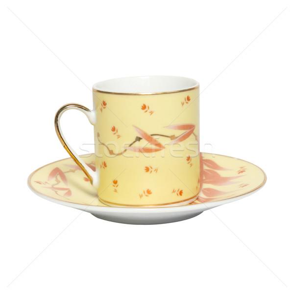 Xícara de café pires isolado branco copo limpar Foto stock © vapi
