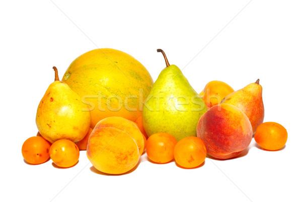 Stok fotoğraf: Meyve · yalıtılmış · beyaz · gıda · doğa · elma