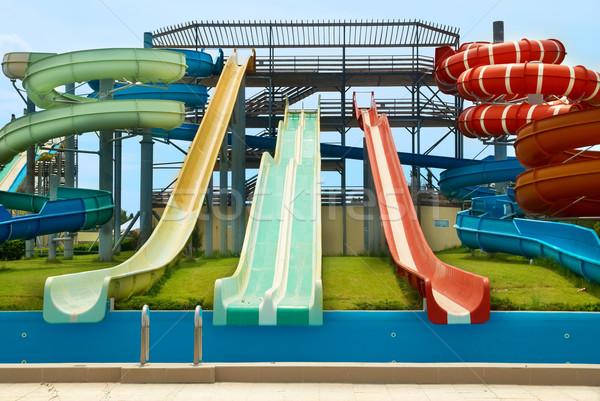 Aqua park constructions Stock photo © vapi