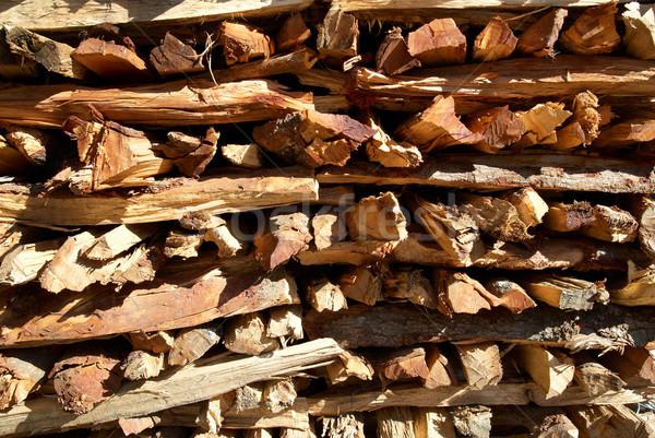 Brandhout kan textuur brand abstract Stockfoto © vapi