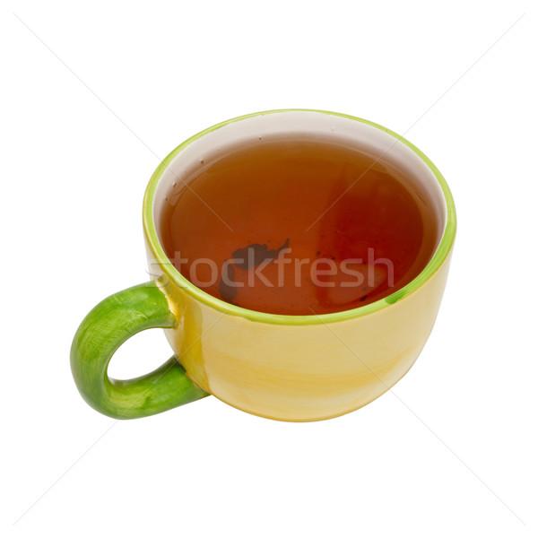чайная чашка чай изолированный белый здоровья фон Сток-фото © vapi