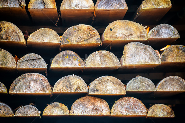 Rows of wooden logs Stock photo © vapi
