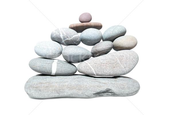 Wall of pebbles Stock photo © vapi