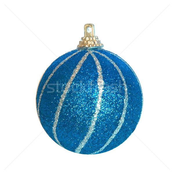 Blau Weihnachten Spielerei Glas Kunst Zeichen Stock foto © vapi
