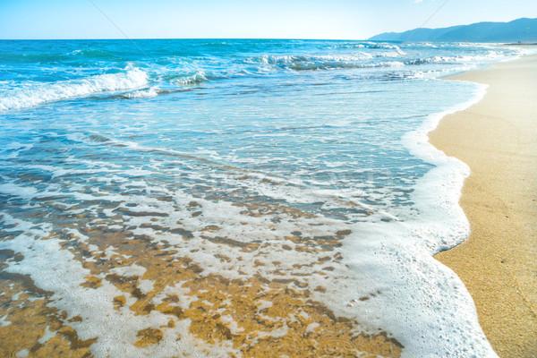 тропический пляж песок морем волна пляж небе Сток-фото © vapi