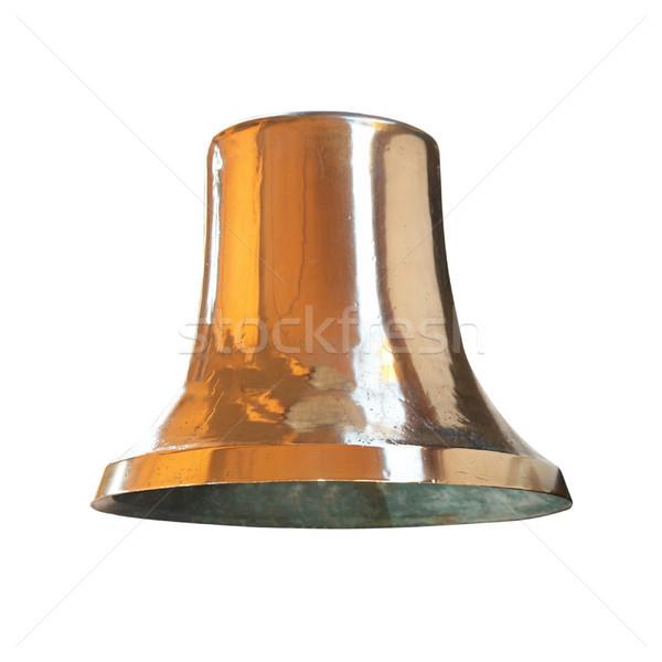 Vintage ottone campana isolato bianco metal Foto d'archivio © vapi