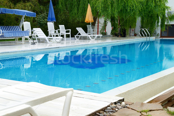 Swimming pool in the hotel Stock photo © vapi
