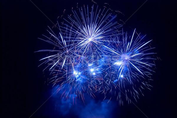 Belo fogos de artifício preto céu feliz luz Foto stock © vapi