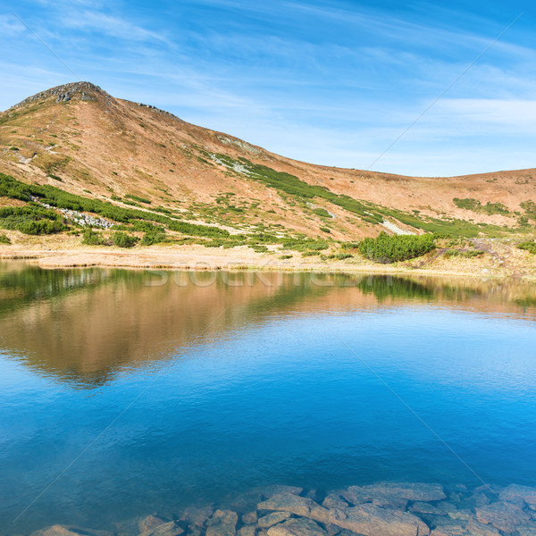 Blue lake in the mountains Stock photo © vapi