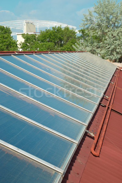 Solar system on the roof Stock photo © vapi
