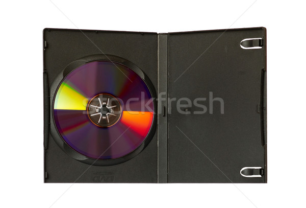 CD and case with insert isolated on white. Stock photo © vapi