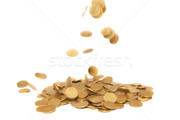 Rain of golden coins Stock photo © vapi