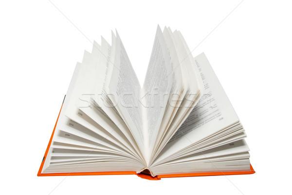 Nyitott könyv izolált fehér könyv absztrakt olvas Stock fotó © vapi