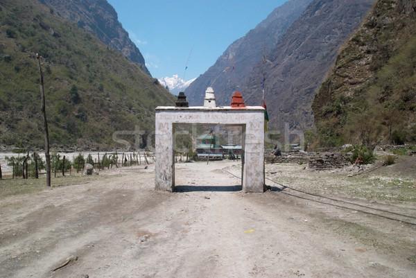 Gate to the Tibetan city Stock photo © vapi