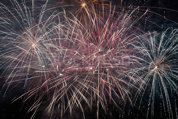 Stock photo: Colorful holiday fireworks