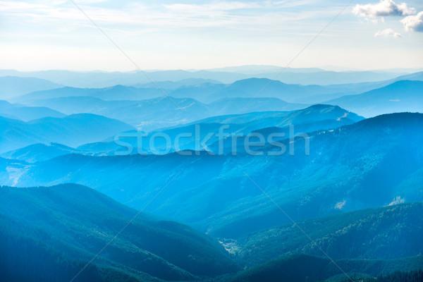 Landscape with blue mountains Stock photo © vapi