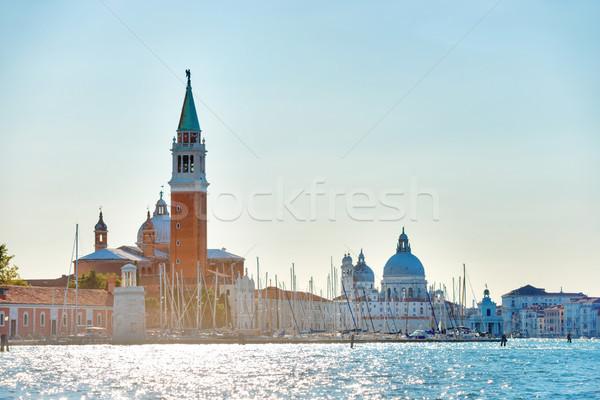 Vierkante bel toren Venetië Italië Stockfoto © vapi