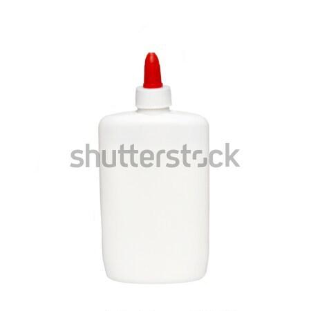 White plastic vial isolated on white. Stock photo © vapi