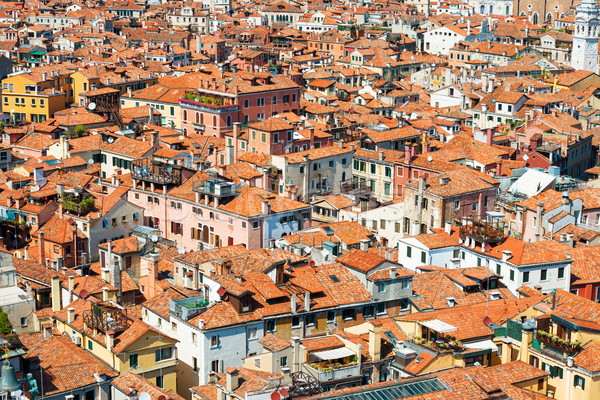 Stock photo: Venice roofs from above