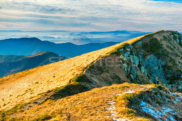 View from mountain ridge Stock photo © vapi