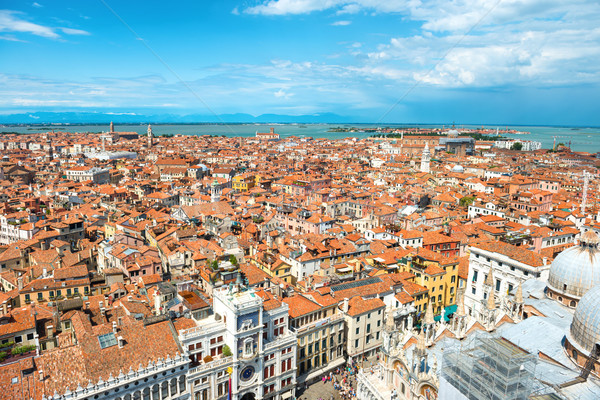 Stock photo: Aerial view on Venice roofs