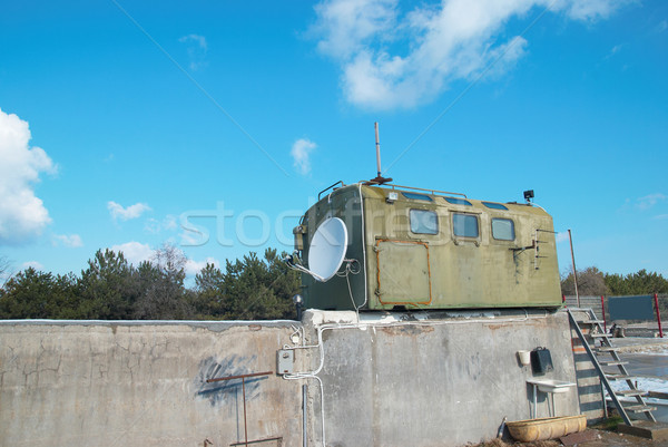 Russian military khaki colored booth Stock photo © vapi