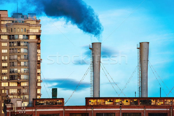 Industrial black toxic smoke Stock photo © vapi