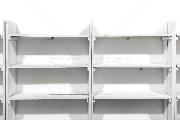 White wooden empty shelves Stock photo © vapi