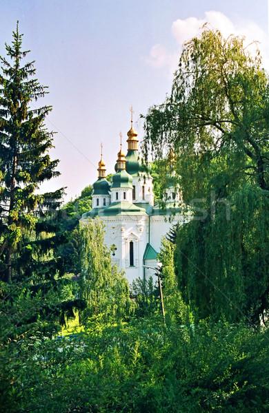 Church and the green trees. Stock photo © vapi