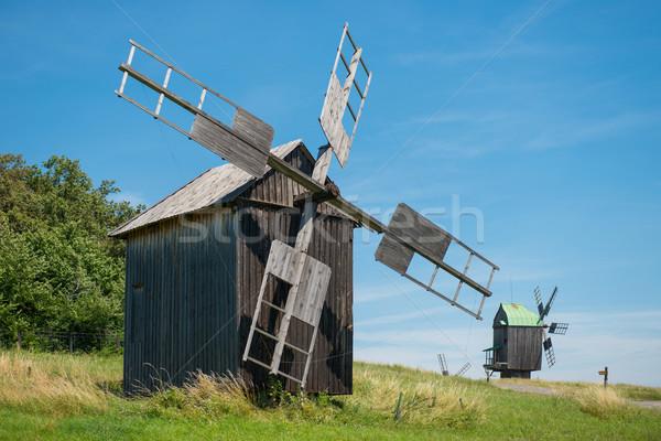 Mill on the wheat field Stock photo © vapi
