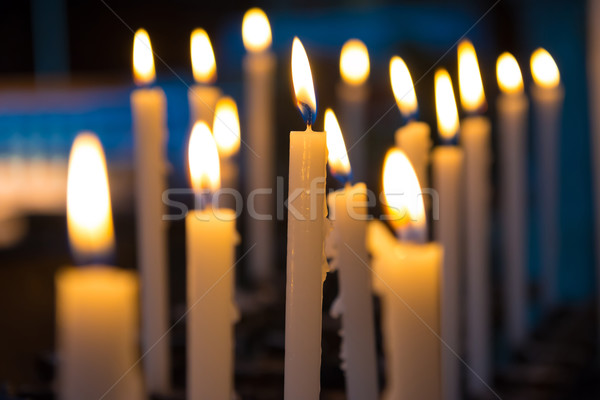 Candels in the church Stock photo © vapi