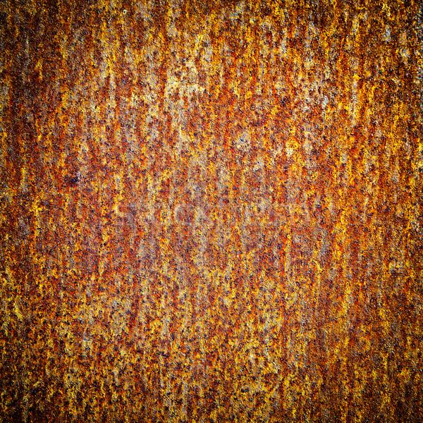 Starych rdzy powierzchnia puszka używany tekstury Zdjęcia stock © vapi