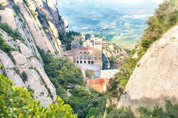 Montserrat mountain and famous monastery Stock photo © vapi