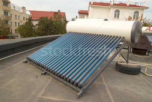 Vacuum solar water heating system Stock photo © vapi