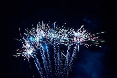 красочный фейерверк черный небе счастливым свет Сток-фото © vapi