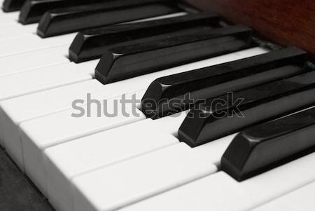 клавиши пианино черно белые клавиатура фортепиано рок Сток-фото © vapi