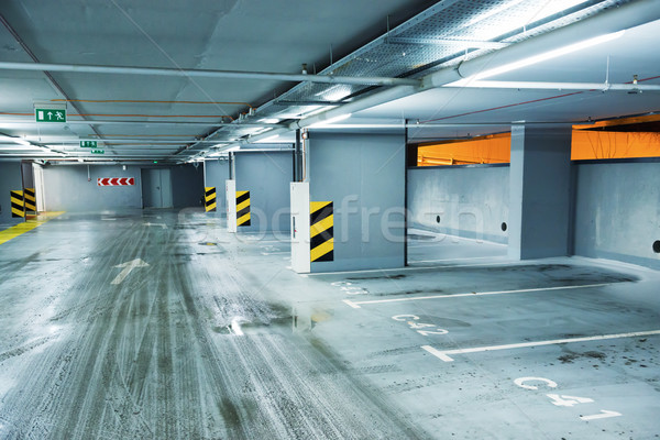 Stok fotoğraf: Boş · yeraltı · park · iş · araba · alışveriş