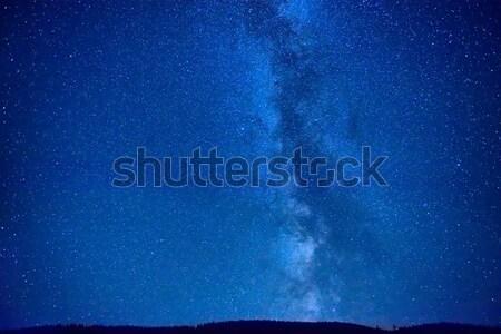 éjszaka sötét kék ég sok csillagok tejes Stock fotó © vapi