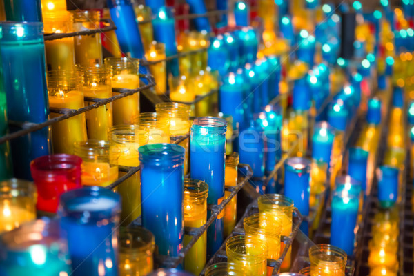 Many colorful candles Stock photo © vapi