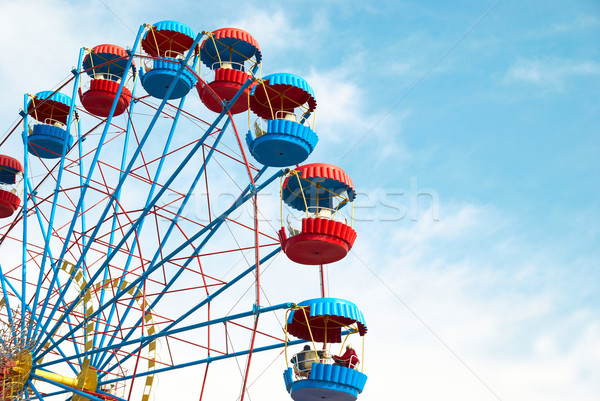 Cielo blu cielo viaggio divertimento nube Foto d'archivio © vapi