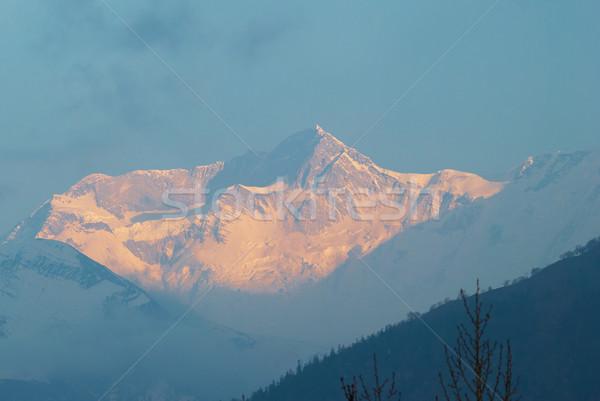 Восход горные Непал юг лес пейзаж Сток-фото © vapi