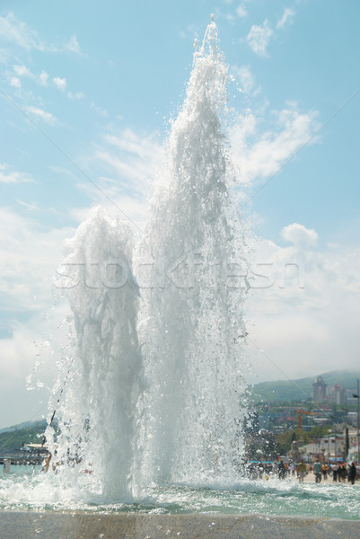 Stock photo: Fountains in the city